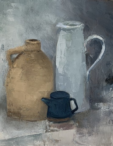 White Vase Brown Jug