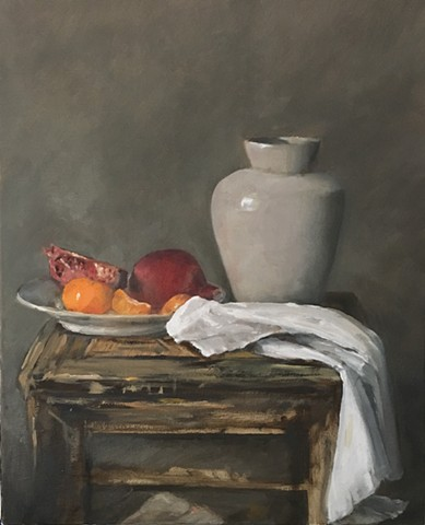 Fruit Plate and Urn