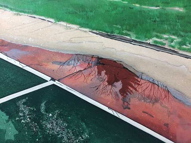 Tennis Court Puddle*