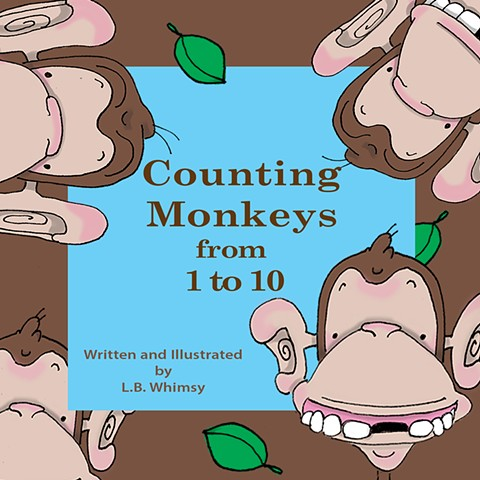 Children's books, counting books, books, kids, cartoons, monkeys, counting, numbers