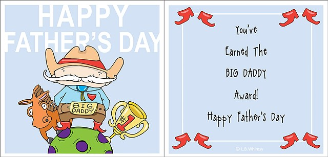 greeting cards, illustrations, dads, Father's Day, cartoons, drawings, vector art, digital media