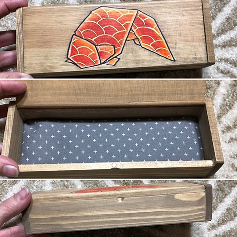 Origami fish storage box
