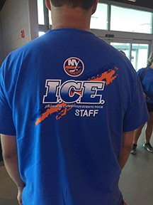 The New York Islanders I.C.E. Tour Staff T-Shirt
