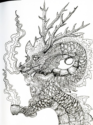 Tea Dragon, from my notebook