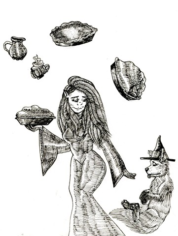 Harvest Witch and Fox Familiar