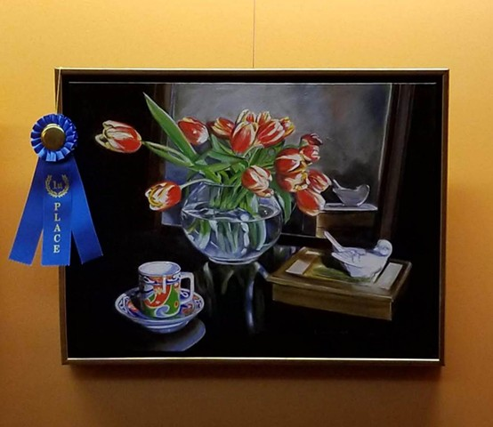 First Place in representational painting  Artrageous 2018 The Frisco Visual Arts Guild juried show