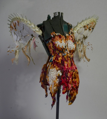 Icarus' Sister sculpture - front view