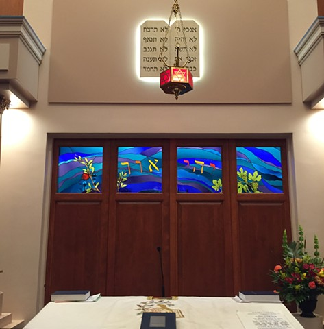 Door panels for Ark  Congregation Beth Israel Bangor, ME