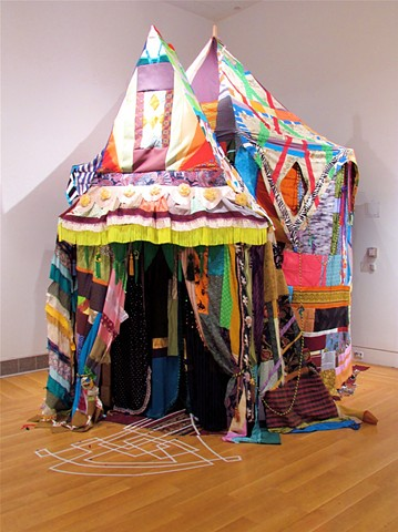 Zim Zall-A-bim, First Tent for The Senior Art Exhibit at PAFA PA.