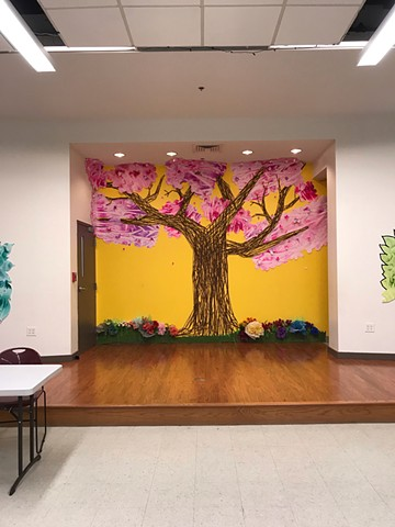 Spring decor at Connecxon,  A reimagine fit me in East Somerville 2019