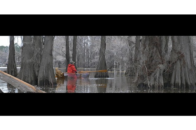 Shana Hoehn, still from Boggy Creek, single channel video, video still, 2018