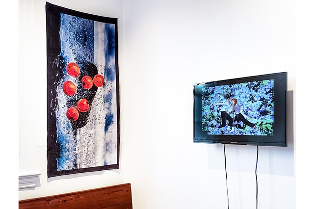 Installation of work at Hind Gallery in Richmond, VA, by previous Public Pool artists Dakota Higgins (right) and Bristol Hayward-Hughes (left)