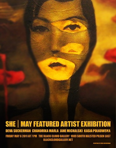 Promo for Black Cloud Gallery exhibition
