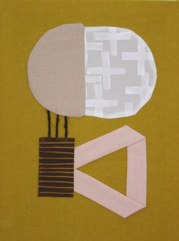 abstract fabric collage by Tamara Bagnell