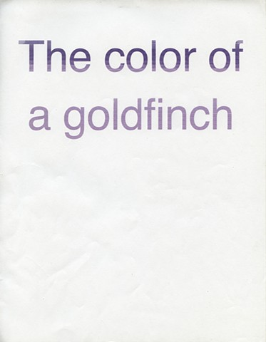 THE COLOR OF A GOLDFINCH