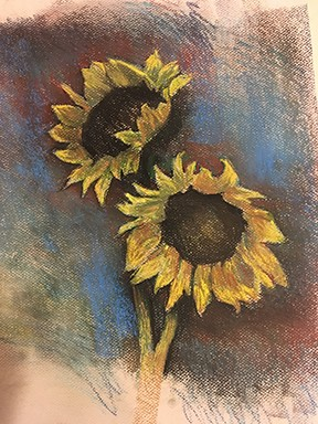 Sunflowers (Blue)