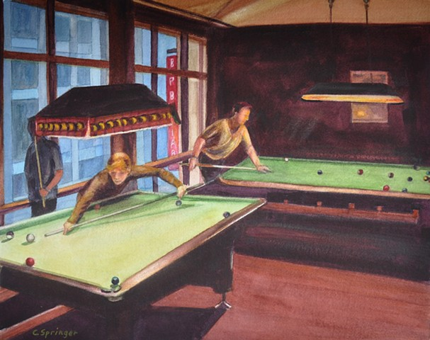 billiards, bar, pool, Berlin, Germany, pool players
