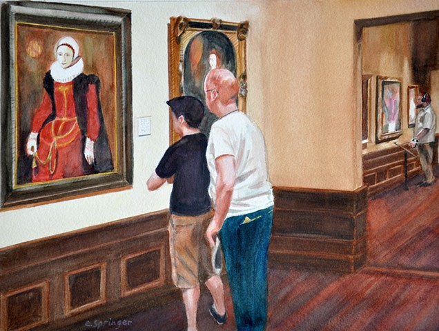Ringling Museum, Sarasota, onlookers, museum visitors