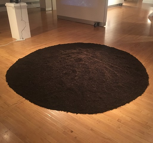 Earthform on Gallery Floor (Hemingway Gallery)