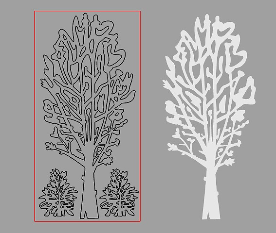 Joe Pye Weed and Tree Drawing for Terrain Biennial.