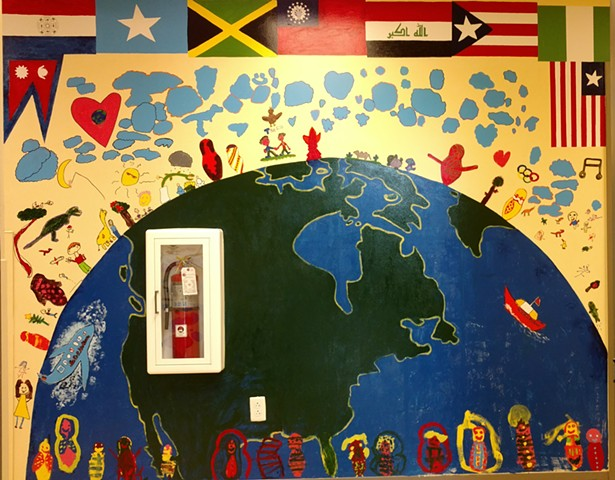 WBCS Murals, Young Muralists, One World