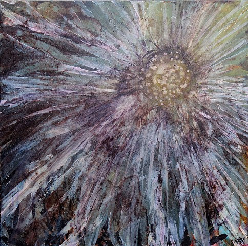 impressionistic painting, modern impressionism, kelsey mcdonnell, four years of flowers, black flower painting, white flower painting, wyoming artist, wyoming art