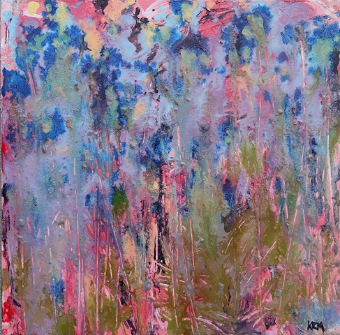impressionistic painting, modern impressionism, kelsey mcdonnell, four years of flowers, purple flower painting, blue flower painting, wyoming artist, wyoming art
