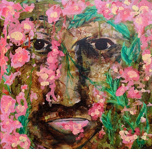 resistance art, emerging artist, feminist art, impressionistic painting, modern impressionism, kelsey mcdonnell, four years of flowers, portrait, flower painting, wyoming artist, wyoming art