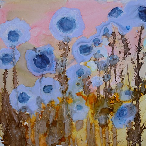 impressionistic painting, modern impressionism, kelsey mcdonnell, four years of flowers, abstract artist wyoming, wyoming artist, wyoming art