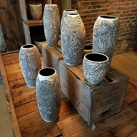 Carved Vessels - Arrangement