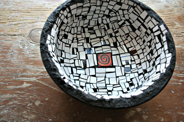 Black and White Mosaic Bowl
