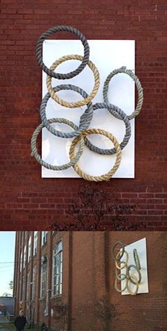 alex buchanan, art, fine art, boston artist, new bedford artist, nautical art, sculpture, massachusetts, cape cod, Hatch Street, studios, the cape, south coast, fiber art, fiber art magazine, hhighfield hall, rope, steel
