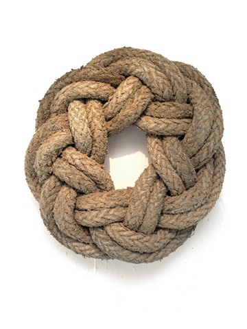 alexbuchananart alex buchanan art  Life Ring is a sculpture by Alex Buchanan. It is a wall hanging sculpture made of braided nylon hawser or towing rope on a wooden mount.  This nautical or maritime sculpture is 44 inches in diameter.  It is a beautiful e