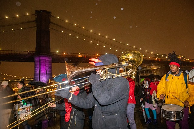 Hungry March Band launches the parade! | Photo by Walter Wlodarczyk