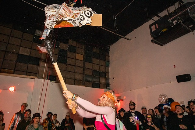 Savannah Jean busts open a piñata of grievances | Photo by Walter Wlodarczyk