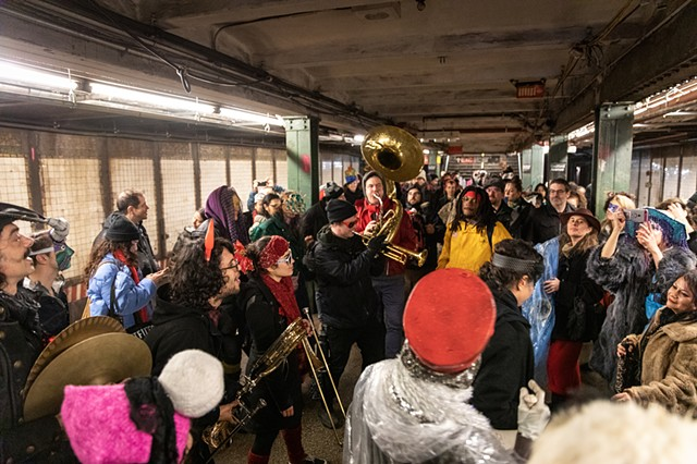 A subway takeover | Photo by Walter Wlodarczyk