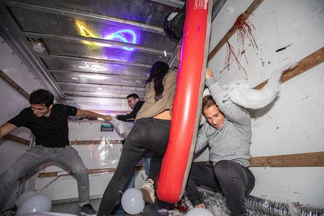 Pillow Fight Truck by NYC Resistor | Photo by Walter Wlodarczyk