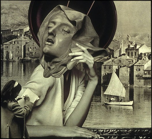 M. M. Dupay, collage, figurative art, feminist art, Bernini Ecstasy of St. Theresa