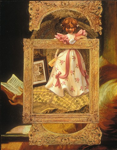 M. M. Dupay, collage, figurative art, feminist art, Fragonard the reader