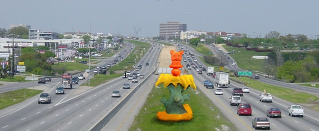 Proposal for Inflatable sculpture installation on median IH35 Austin Tx