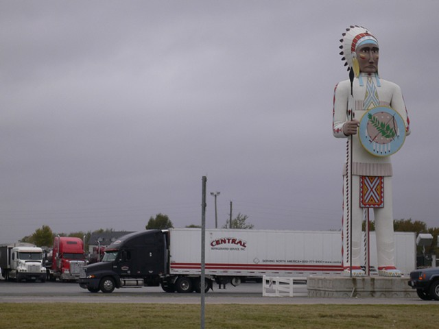 Oklahoma Indian at Truck Stop