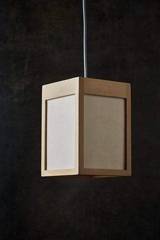 Panel Lamp, pendant.  (light off)