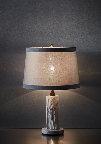 Log Table Lamp