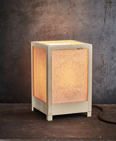 Damask Textured Panel Lamp