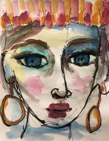 abstract girl face by Marabeth Quin