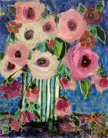 Colorful Floral Abstract by artist Marabeth Quin