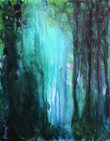 abstract landscape by nashville artist Marabeth Quin