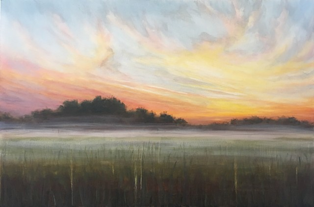 Cornelia Fort Air Park sunrise by nashville artist Marabeth Quin