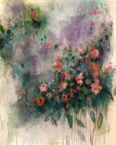 botanical abstract by nashville artist Marabeth Quin
