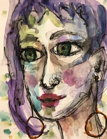 abstract girls face by nashville artist marabeth quin